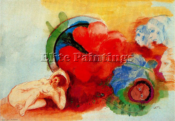 ODILON REDON REDO138 ARTIST PAINTING REPRODUCTION HANDMADE OIL CANVAS REPRO WALL