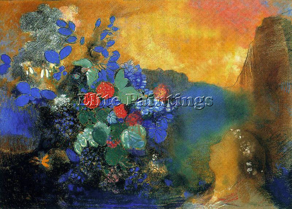 ODILON REDON REDO139 ARTIST PAINTING REPRODUCTION HANDMADE OIL CANVAS REPRO WALL