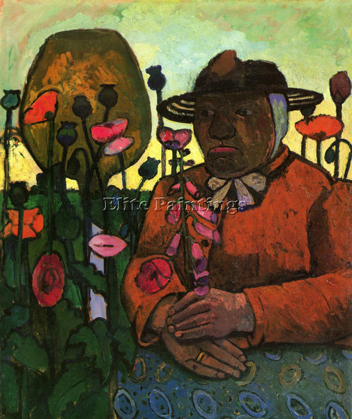 PAULA MODERSOHN-BECKER OLD WOMAN IN THE GARDEN ARTIST PAINTING REPRODUCTION OIL