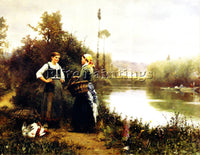 DANIEL RIDGWAY KNIGHT ON THE WAY TO MARKET ARTIST PAINTING REPRODUCTION HANDMADE