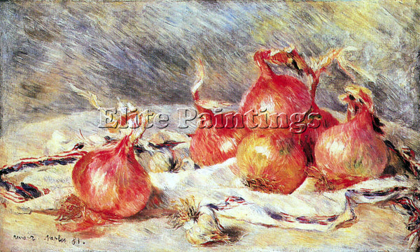 RENOIR ONIONS ARTIST PAINTING REPRODUCTION HANDMADE OIL CANVAS REPRO WALL  DECO