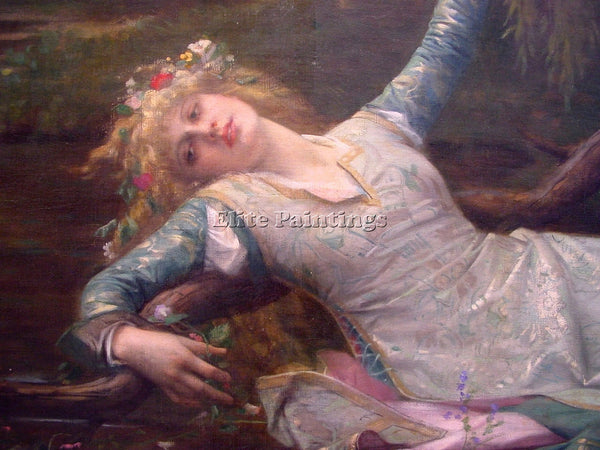 ALEXANDRE CABANEL OPHELIA DETAIL2 ARTIST PAINTING REPRODUCTION HANDMADE OIL DECO