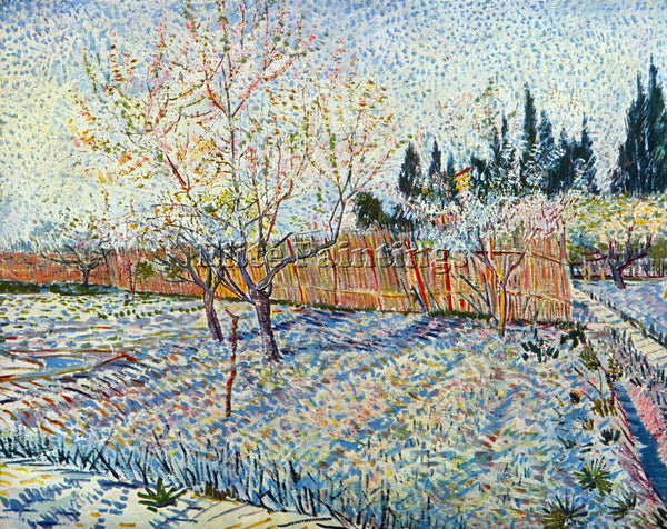 VAN GOGH ORCHARD WITH CYPRESS ARTIST PAINTING REPRODUCTION HANDMADE CANVAS REPRO