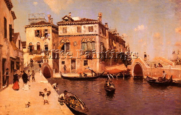 MARTIN RICO Y ORTEGA A VENETIAN AFTERNOON ARTIST PAINTING REPRODUCTION HANDMADE