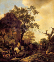 DUTCH OSTADE ISAACK JANSZ VAN DUTCH 1621 49 ARTIST PAINTING HANDMADE OIL CANVAS