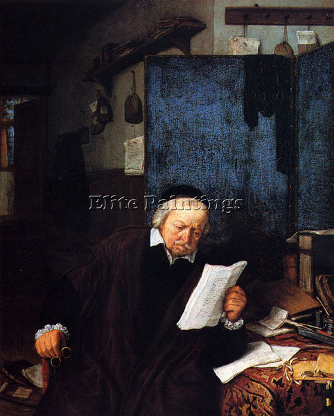 ADRIAEN VAN OSTADE LAWYER IN HIS STUDY ARTIST PAINTING REPRODUCTION HANDMADE OIL