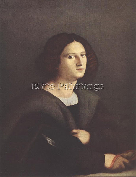 JACOPO IL VECCHIO PALMA PORTRAIT OF A MAN ARTIST PAINTING REPRODUCTION HANDMADE