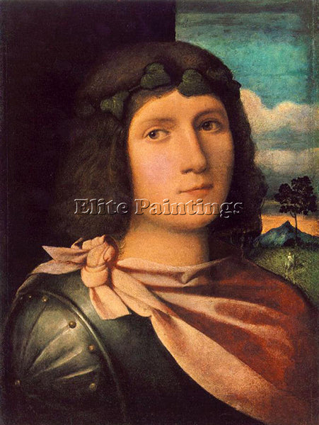 JACOPO IL VECCHIO PALMA PORTRAIT OF A YOUNG MAN ARTIST PAINTING REPRODUCTION OIL
