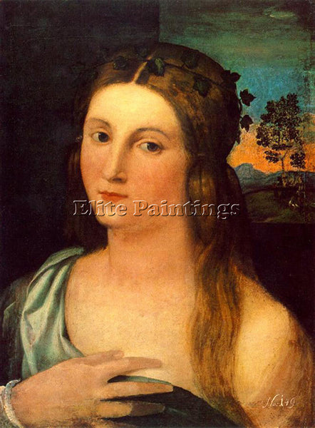 JACOPO IL VECCHIO PALMA PORTRAIT OF A YOUNG WOMAN ARTIST PAINTING REPRODUCTION