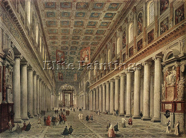 GIOVANNI PAOLO PANNINI INTERIOR OF THE SANTA MARIA MAGGIORE IN ROME PAINTING OIL