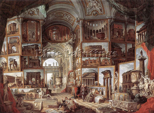 GIOVANNI PAOLO PANNINI ROMA ANTICA ARTIST PAINTING REPRODUCTION HANDMADE OIL ART
