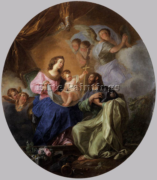 SPANISH PARET Y ALCAZAR LUIS VIRGIN AND CHILD WITH ST JAMES THE GREAT ARTIST OIL