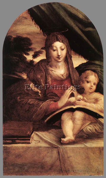 PARMIGIANINO MADONNA AND CHILD 1525 ARTIST PAINTING REPRODUCTION HANDMADE OIL