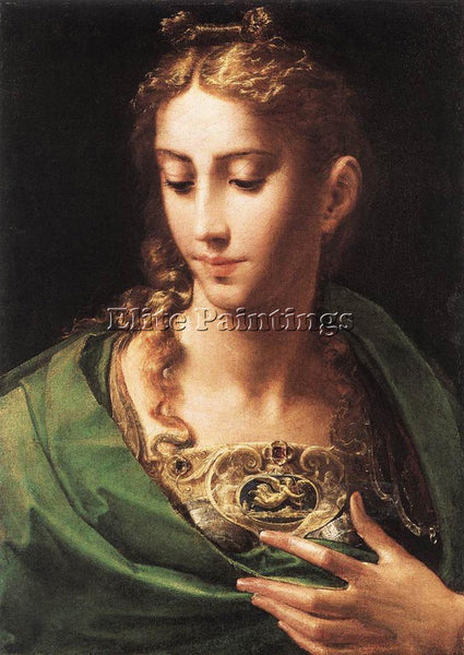 PARMIGIANINO PALLAS ATHENE ARTIST PAINTING REPRODUCTION HANDMADE OIL CANVAS DECO