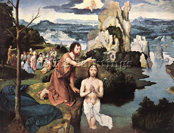 JOACHIM PATENIER BAPTISM OF CHRIST ARTIST PAINTING REPRODUCTION HANDMADE OIL ART