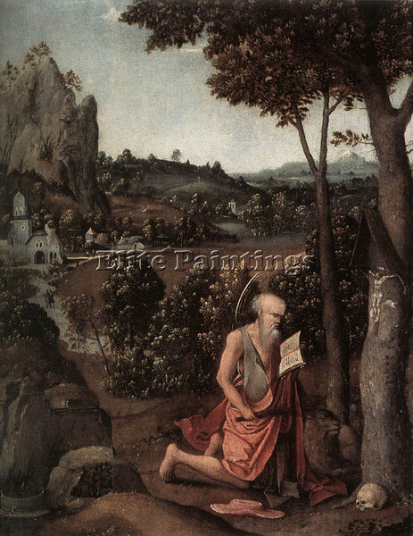 JOACHIM PATENIER ROCKY LANDSCAPE WITH SAINT JEROME ARTIST PAINTING REPRODUCTION
