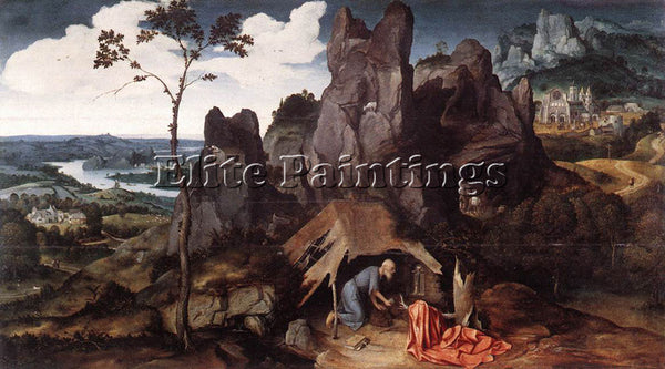 JOACHIM PATENIER ST JEROME IN THE DESERT ARTIST PAINTING REPRODUCTION HANDMADE