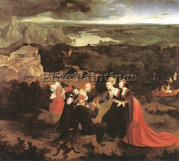 JOACHIM PATENIER TEMPTATION OF ST ANTHONY ARTIST PAINTING REPRODUCTION HANDMADE