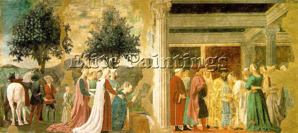 PIERO DELLA FRANCESCA ADORATION HOLY WOOD AND MEETING SOLOMON AND QUEEN SHEBA