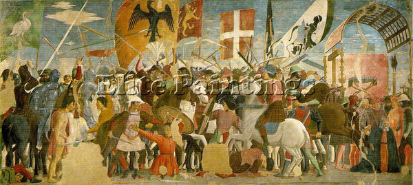 PIERO DELLA FRANCESCA BATTLE BETWEEN HERACLIUS AND CHOSROES ARTIST PAINTING OIL