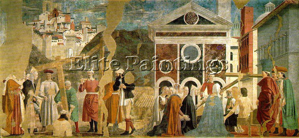PIERO DELLA FRANCESCA DISCOVERY AND PROOF OF THE TRUE CROSS ARTIST PAINTING OIL