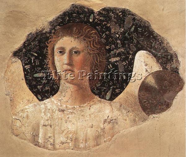 PIERO DELLA FRANCESCA HEAD OF AN ANGEL ARTIST PAINTING REPRODUCTION HANDMADE OIL