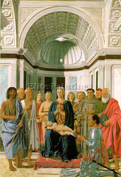 PIERO DELLA FRANCESCA MADONNA AND CHILD WITH SAINTS ARTIST PAINTING REPRODUCTION