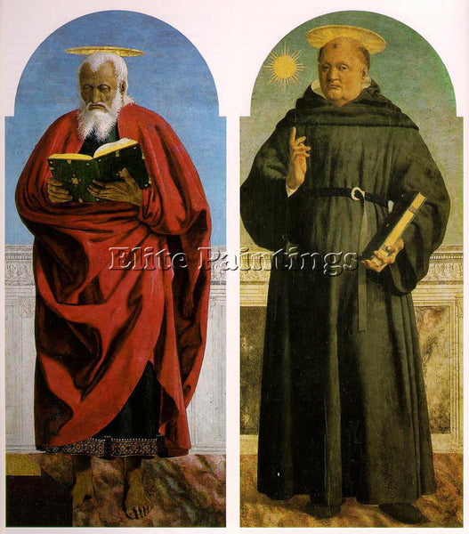 PIERO DELLA FRANCESCA POLYPTYCH OF SAINT AUGUSTINE 2 ARTIST PAINTING HANDMADE