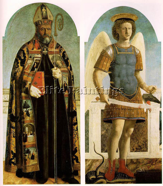 PIERO DELLA FRANCESCA POLYPTYCH OF SAINT AUGUSTINE ARTIST PAINTING REPRODUCTION