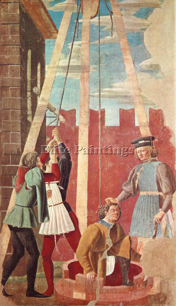 PIERO DELLA FRANCESCA TORTURE OF THE JEW ARTIST PAINTING REPRODUCTION HANDMADE