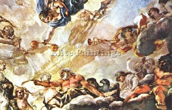 PIETRO DA CORTONA APOTHEOSE OF AENEAS DETAIL ARTIST PAINTING HANDMADE OIL CANVAS