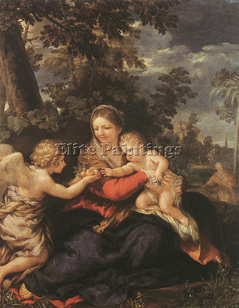 PIETRO DA CORTONA HOLY FAMILY RESTING ON THE FLIGHT TO EGYPT ARTIST PAINTING OIL