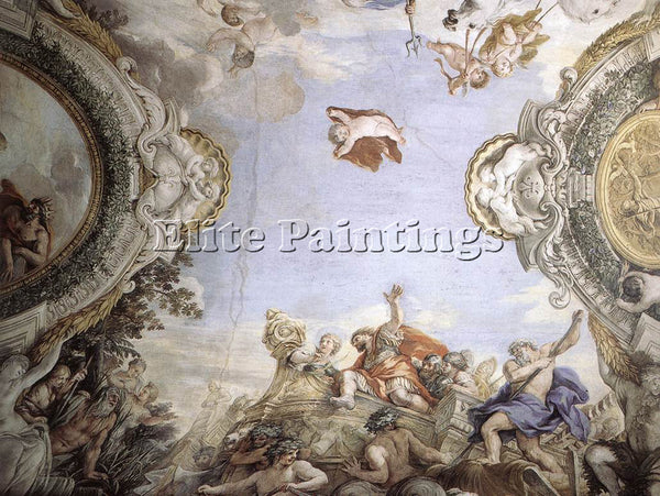 PIETRO DA CORTONA LANDING OF THE TROJANS AT THE MOUTH OF TIBERIS ARTIST PAINTING