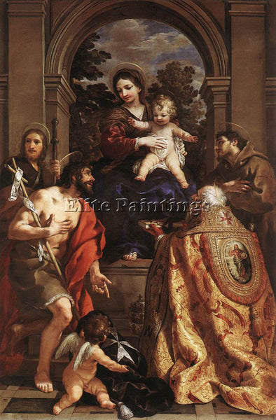 PIETRO DA CORTONA MADONNA AND SAINTS ARTIST PAINTING REPRODUCTION HANDMADE OIL