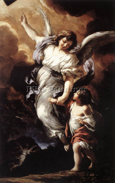 PIETRO DA CORTONA THE GUARDIAN ANGEL ARTIST PAINTING REPRODUCTION HANDMADE OIL