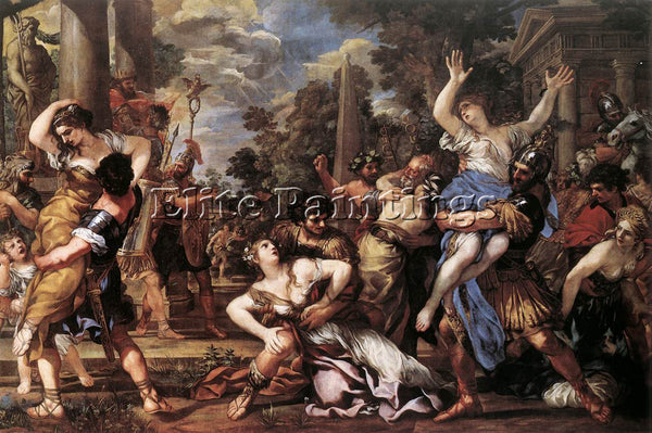 PIETRO DA CORTONA THE RAPE OF THE SIBINE WOMEN ARTIST PAINTING REPRODUCTION OIL