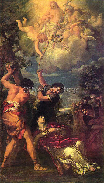 PIETRO DA CORTONA THE STONING OF ST STEPHEN ARTIST PAINTING HANDMADE OIL CANVAS