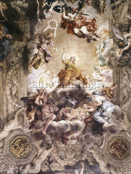 PIETRO DA CORTONA THE TRIUMPH OF DIVINE PROVIDENCE DETAIL ARTIST PAINTING CANVAS