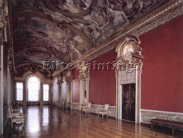 PIETRO DA CORTONA VIEW OF THE GALLERIA PAMPHILI ARTIST PAINTING REPRODUCTION OIL