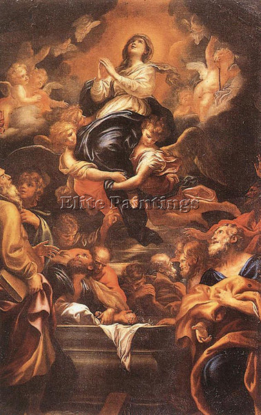 DOMENICO PIOLA ASSUMPTION OF THE VIRGIN ARTIST PAINTING REPRODUCTION HANDMADE