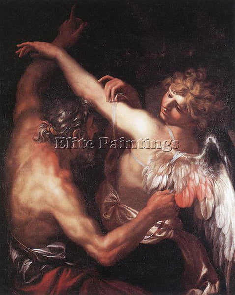 DOMENICO PIOLA DAEDALUS AND ICARUS ARTIST PAINTING REPRODUCTION HANDMADE OIL ART