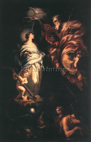 DOMENICO PIOLA IMMACULATE CONCEPTION ARTIST PAINTING REPRODUCTION HANDMADE OIL
