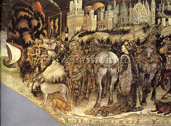 ANTONIO PISANELLO SAINT GEORGE AND THE PRINCESS OF TREBIZOND ARTIST PAINTING OIL