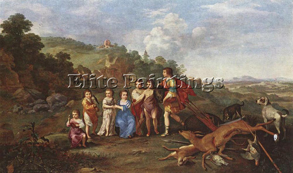 POELENBURGH CHILDREN FREDERICK V PRINCE ELECTOR PFALZ AND KING BOHEMIA PAINTING