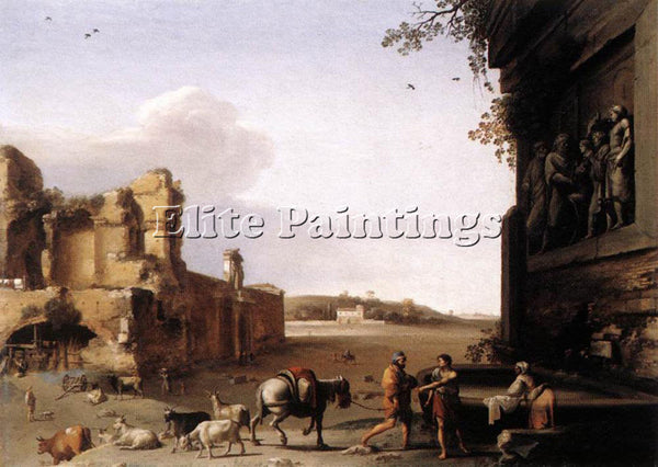 CORNELIS VAN POELENBURGH RUINS OF ANCIENT ROME ARTIST PAINTING REPRODUCTION OIL