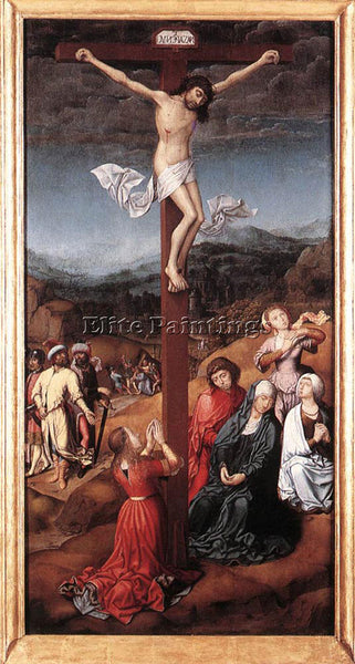 JAN PROVOST CRUCIFIXION 1500 ARTIST PAINTING REPRODUCTION HANDMADE CANVAS REPRO