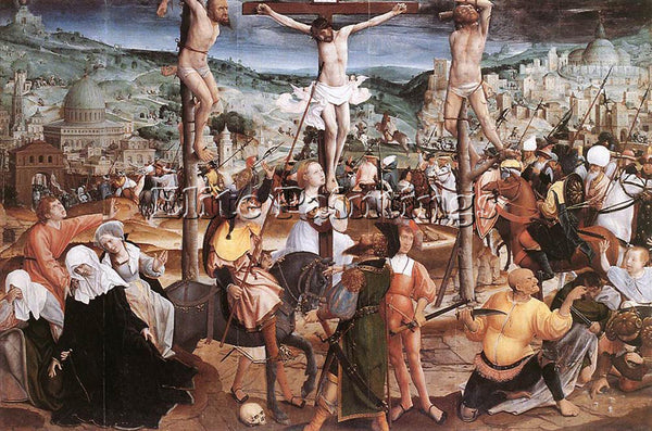 JAN PROVOST CRUCIFIXION ARTIST PAINTING REPRODUCTION HANDMADE CANVAS REPRO WALL