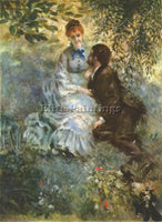 RENOIR PAIR OF LOVERS ARTIST PAINTING REPRODUCTION HANDMADE OIL CANVAS REPRO ART