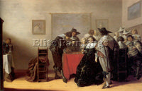 DUTCH PALAMEDESZ ANTHONIE DUTCH 1601 73 ARTIST PAINTING REPRODUCTION HANDMADE