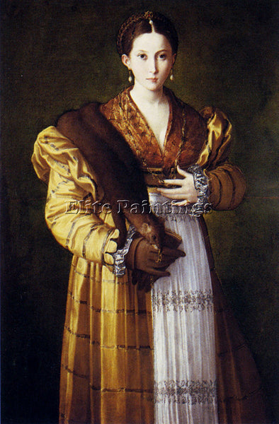 PARMIGIANINO PORTRAIT OF A YOUNG WOMAN ARTIST PAINTING REPRODUCTION HANDMADE OIL